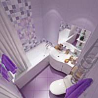 Интерьер ванной комнаты в лавандовом цвете