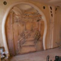 Декорирование стены комнаты лепниной своими руками
