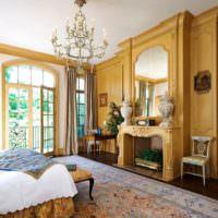 Дизайн спальни в светло-коричневых тонах