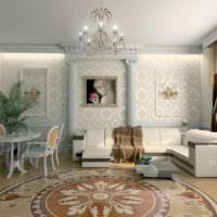 Дизайн интерьере частного дома с элементами полиуретановой лепнины