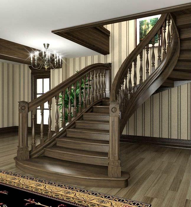Фотогалерея деревянных лестниц