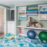 Пестрый линолеум в интерьере детской комнаты