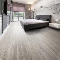 Дизайн спальни частного дома в серых тонах