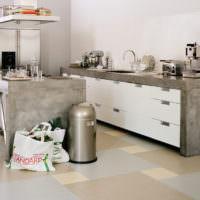 Серые и пастельные тона в интерьере кухни