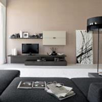 Сочетание кремового и черного цветов в современном дизайне