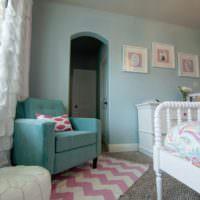 Оформление спальной комнаты в пастельных оттенках