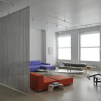 Современная гостиная в стиле минимализма