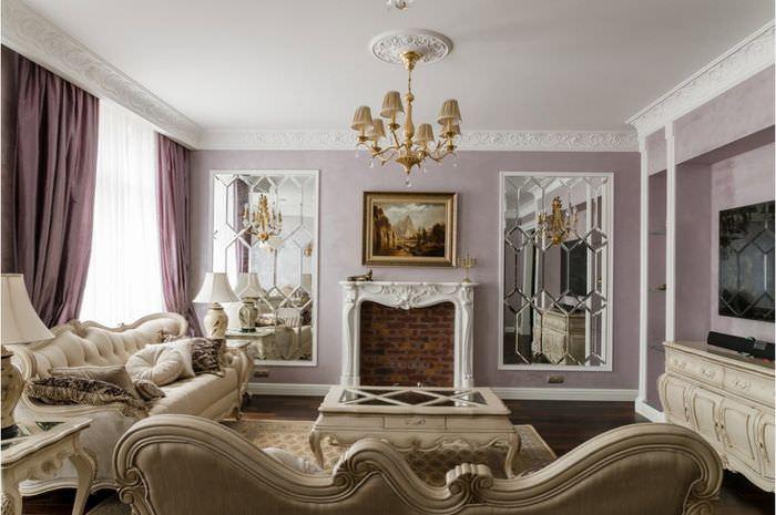 Молдинги в дизайне интерьера классического стиля