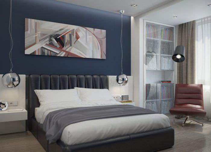 Дизайн мужской спальни в выдержанном стиле