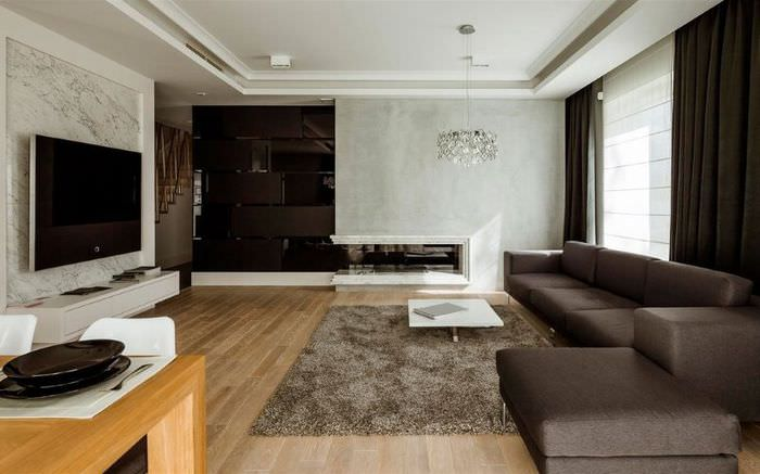 Спальня в стиле минимализма в квартире одинокого мужчины