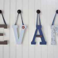 Объемные буквы на лентах своими руками