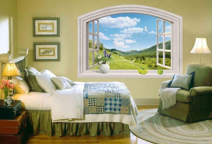 Декоративная ниша в виде раскрытого окна своими руками