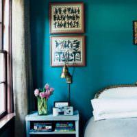 Обои под покраску в спальне деревенского стиля