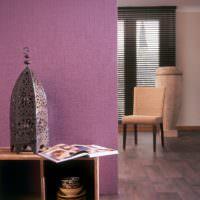 Дизайн гостиной с обоями под покраску