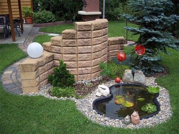 Малая архитектурная композиция для сада своими руками
