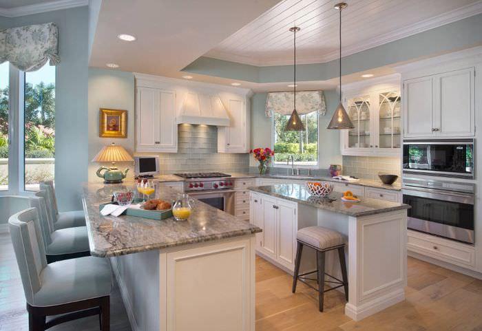 Отделка кухонных стел покраской влагостойким составом