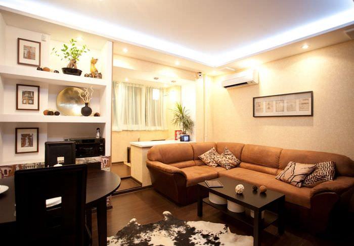 Освещение в дизайне жилой комнаты