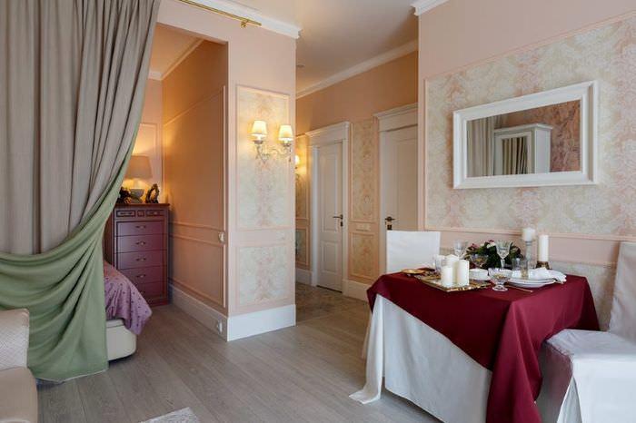 Дизайн однокомнатной квартиры в классическом стиле