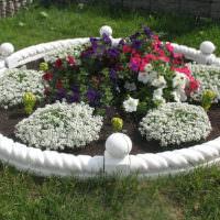 Клумба для цветов из бетона своими руками