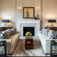 Стильное оформление комнаты полистирольными молдингами