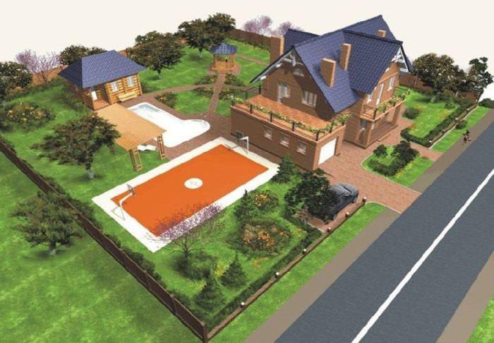 Дизайн-проект загородного участка площадью 20 соток