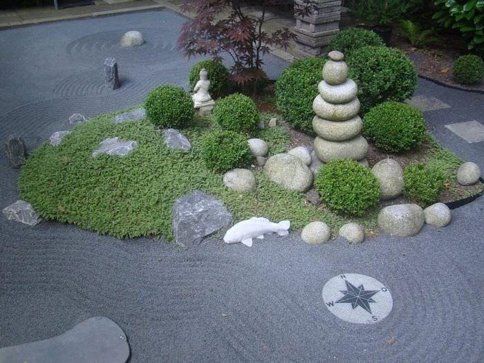 Сад камней в японском стиле своими руками
