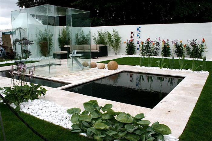Фото современного садового участка в стиле модерн
