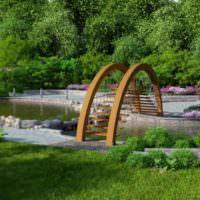 Деревянный мостик оригинальной конструкции