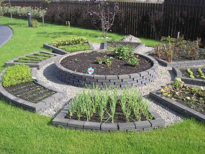 Современный подход к оформлению огородных грядок