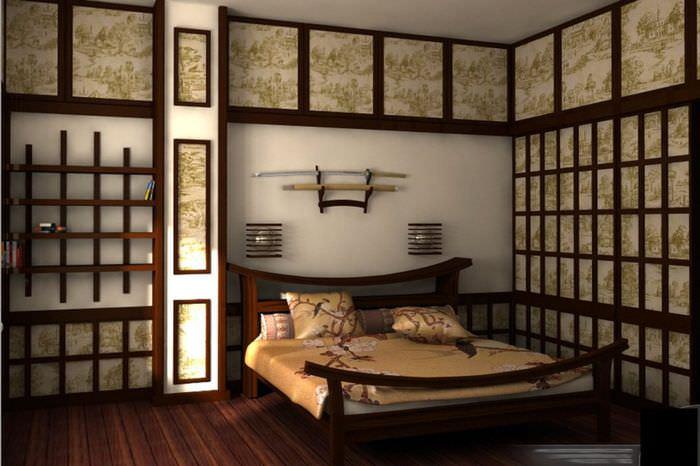 Дизайн интерьера спальни в японском стиле