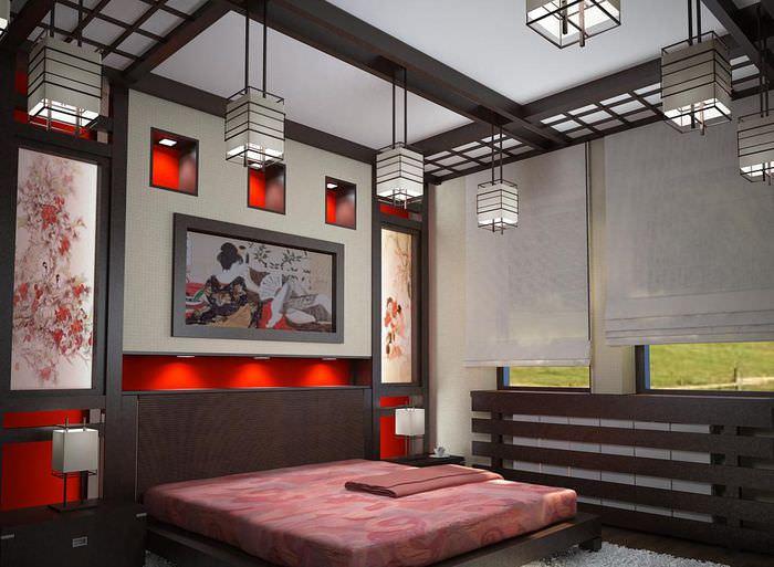 Дизайн интерьера спальни в китайском стиле