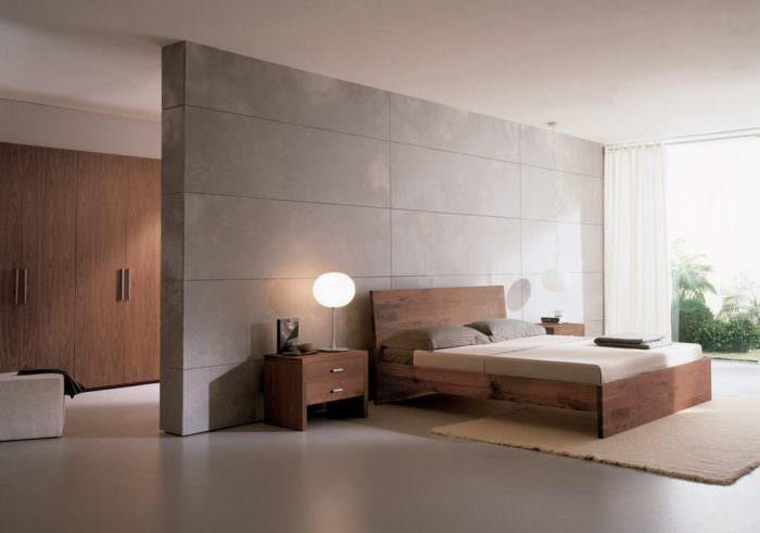 Большая спальня в стиле минимализма своими руками