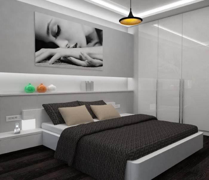 Интерьер спальни своими руками в стиле хай-тек