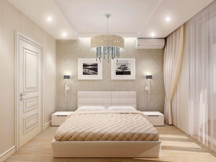 Комфортное освещение в интерьере спальной комнаты