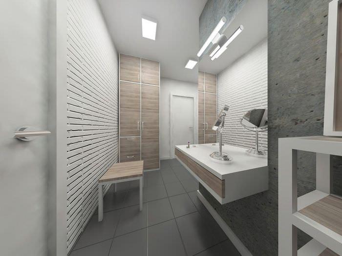 Дизайн коридора в стиле лофт в однокомнатной квартире