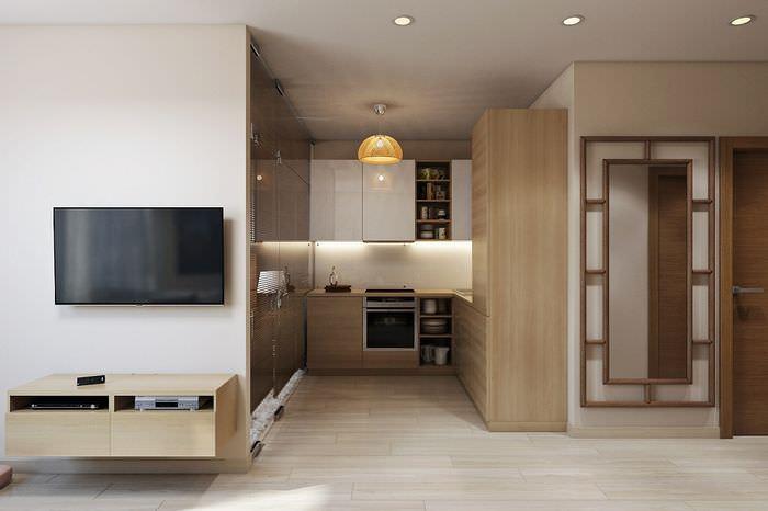 Планировка однокомнатной квартиры с отдельной кухней