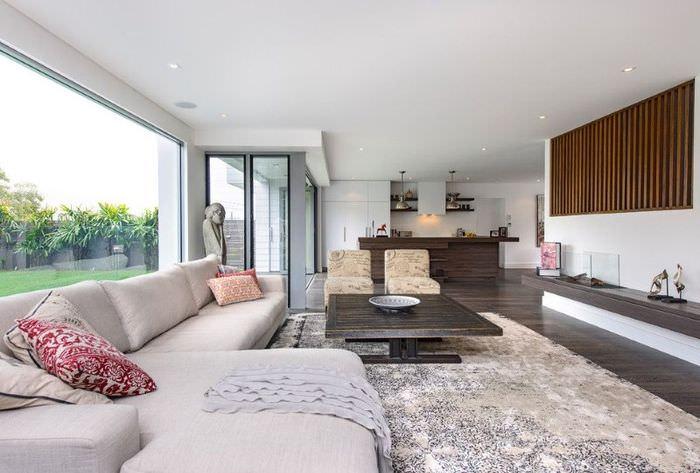 Декорирование интерьера гостиной в стиле минимализма