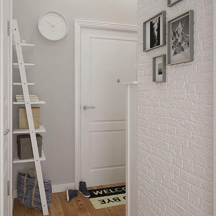 Дизайн прихожей в однокомнатной квартире площадью в 38 квадратов