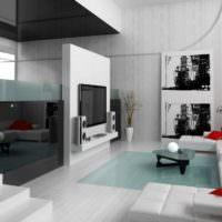 Черный цвет в гостиной стиля минимализма
