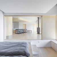 Дизайн спальной комнаты в стилистике минимализма