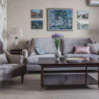 Мягкая мебель в гостиной частного дома