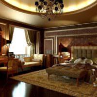 Темная гостиная в стиле классицизма