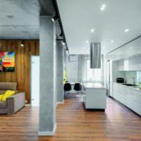 Бетонные колонны в современном дизайне помещений