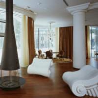 Атрибутика Древней Греции в интерьере современной гостиной