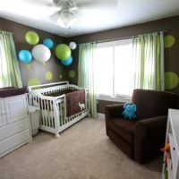 Коричневый цвет в детской комнате
