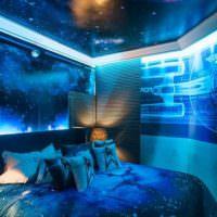 Современная спальня в космическом стиле