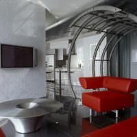 Интерьер комнаты в футуристическом стиле