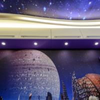 Подсветка в комнате космического стиля