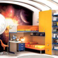 Дизайн детской комнаты в ярких цветах