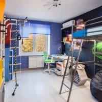 Металлическая мебель в детской комнате